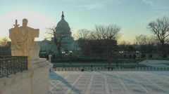 US Capitol view from Supreme Court Stock Footage