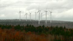 Wind Turbines Fall 06 - H264 - stock footage