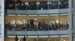 Parade Spectators Crowd Stock Footage