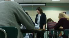 Teaching monitoring a test Stock Footage