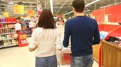 Couple at shopping centre - stock footage