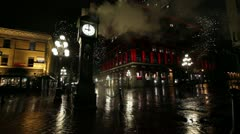 Steam Clock in Gastown in Vancouver BC British Columbia Canada Stock Footage
