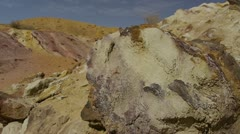 Large Crater color sands 3 Stock Footage