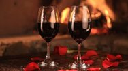 Stock Video Footage of fire, wine and roses