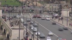 "Traffic on ""Pont d'Iéna "", ""Jena Bridge"", Paris - stock footage"