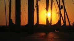 Sunrise in Kiel - Baltic Sea Stock Footage
