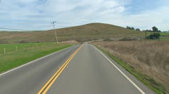 Driving Plate POV - Hwy 1 South Nearing Valley Ford 2 Stock Footage
