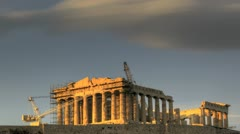 Stock Video Footage of HDR Timelapse Parthenon Acropolis