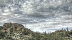 HDR Timelapse Javelina Rocks Saguaro NP Arizona Stock Footage