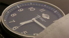 Watches on the hand table Stock Footage