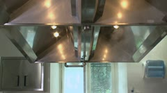 Pots in kitchen - stock footage