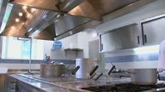 Stainless kitchen - stock footage