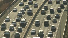 Aerial view of traffic on I-95 (1 of 3) Stock Footage