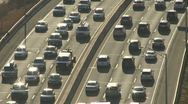 Stock Video Footage of Aerial view of traffic on I-95 (1 of 3)