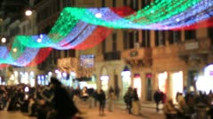 Christmas in Rome Stock Footage