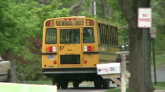 A school bus on its route Stock Footage