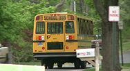 Stock Video Footage of A school bus on its route