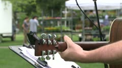 Entertainment at an outdoor market (1 of 3) Stock Footage