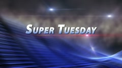 ELECTION 2012 SUPER TUESDAY Bumper Smoke Blue HD/SD Prores Stock Footage