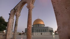 Jerusalem - Dome of the Rock Stock Footage