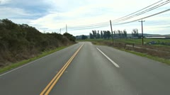 Driving Plate POV - Hwy 1 South Through Valley Ford 1 Stock Footage