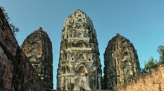 Thailand-Sukhothai-Historical-Park-Wat-Sri-Sawai Stock Footage