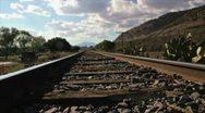Rail Track Stock Footage