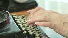 Antique Typewriter 03 Stock Footage