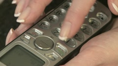 Dialing Digital Telephone 01 Stock Footage
