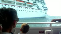 Tendering from a cruise ship to shore. Stock Footage