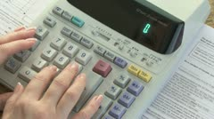 Doing Taxes 01 Stock Footage