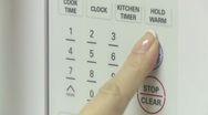 Microwave control panel 01 Stock Footage