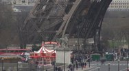 Timelapse Paris Amazing Eiffel Tower with carousel Stock Footage