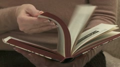 Reading Book 01 Stock Footage