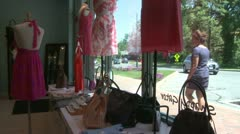 Boutique window (1 of 2) Stock Footage
