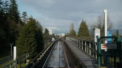 Skytrain Ride From Station Stock Footage