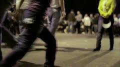 People walking carnival Stock Footage