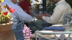Sidewalk restaurant (5 of 9) Stock Footage