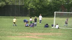 Elementary School Boys Playing Soccer (4 of 6) Stock Footage