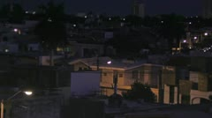Mazatlan cityscape by night Stock Footage