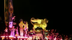 Mazatlan celebration carnival Stock Footage