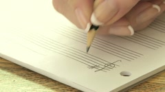 Writing Music Notation 01 Stock Footage