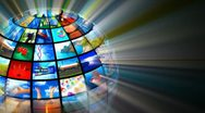 Media technologies concept Stock Footage