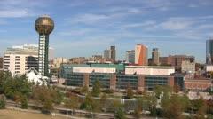 Knoxville Skyline Pan Stock Footage
