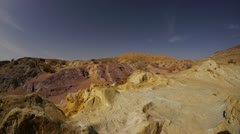 Large Crater color sands 5 Stock Footage