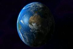 0165 Espacio NTSC Stock Footage