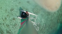 Catamaran Top View 2 Stock Footage