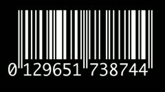 barcode - stock footage