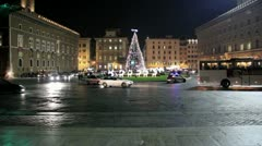 Christmas in Rome - Venice Square Stock Footage