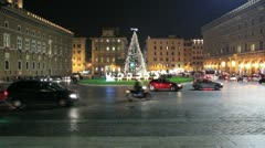 Christmas in Rome - Venice Square - Timelapse Stock Footage